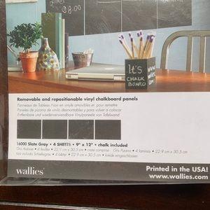 Wallies Wall Art - Peel & Stick Chalkboard Wallies - 2 Boxes